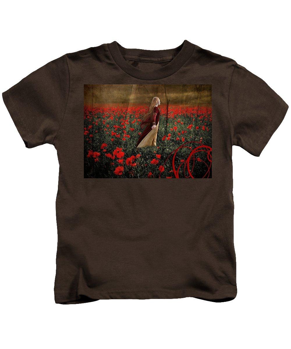 Women Kids T-Shirt featuring the digital art Women by Dorothy Binder