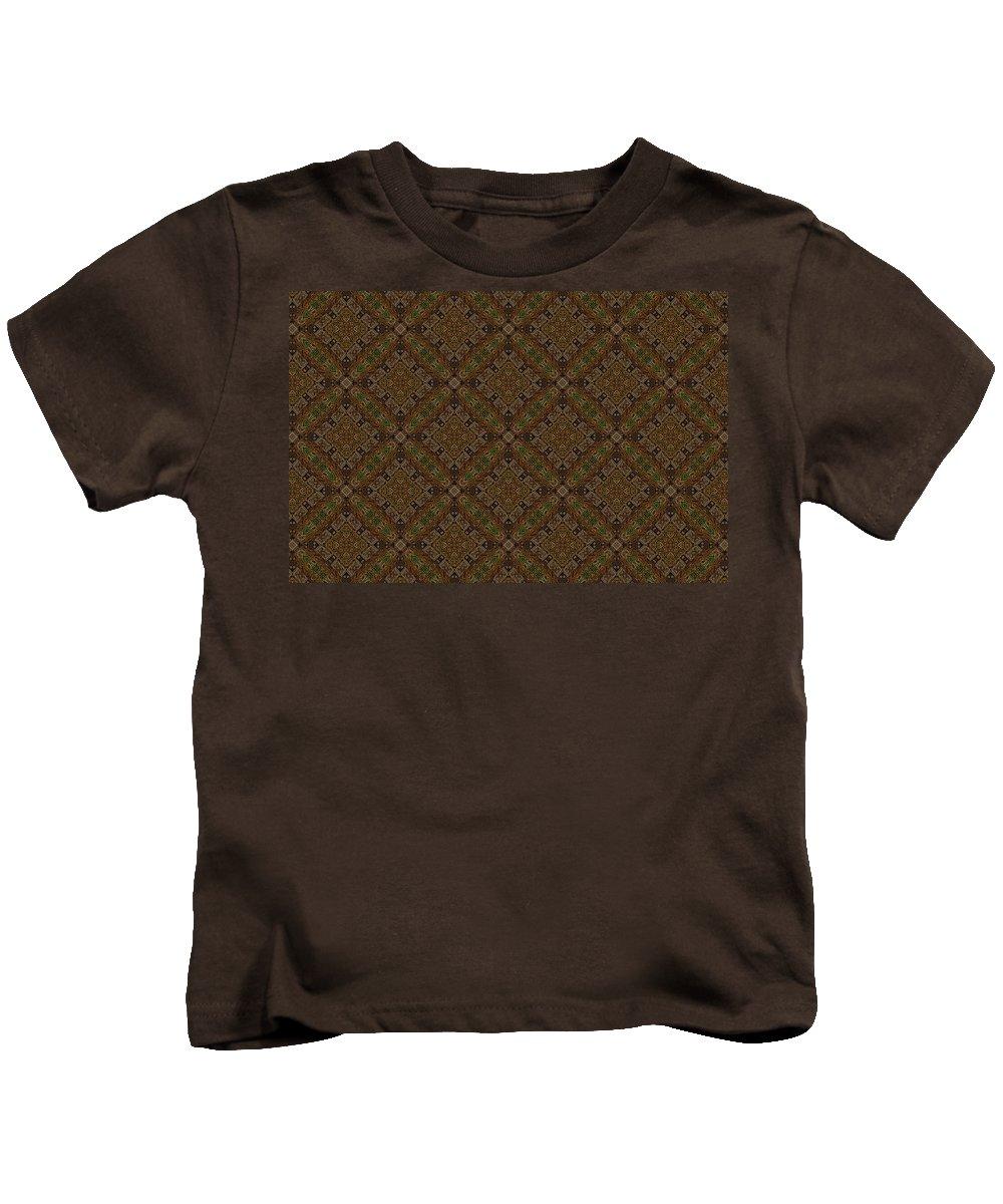 Marjan Mencin Kids T-Shirt featuring the digital art Arabesque 075 by Marjan Mencin