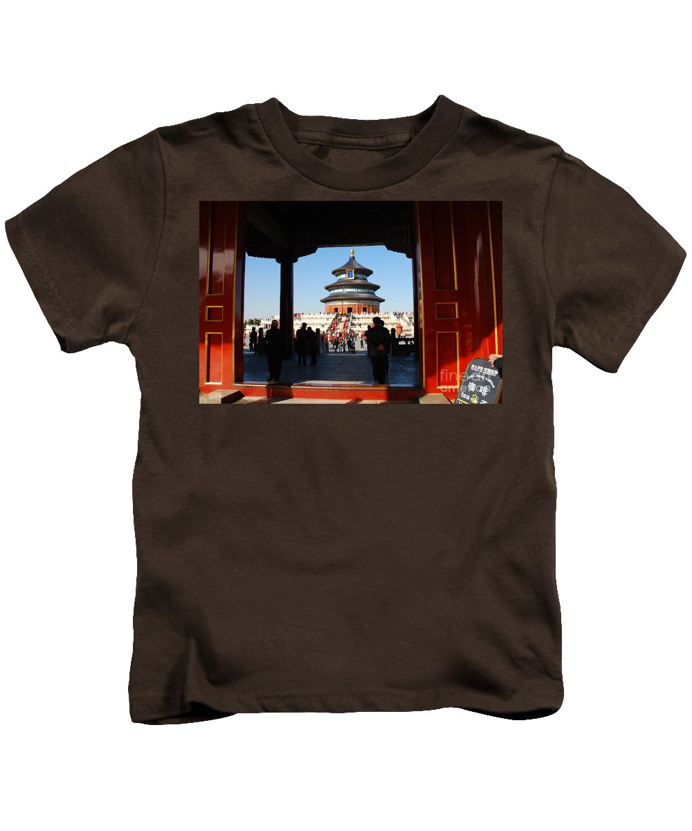 Asia Kids T-Shirt featuring the photograph Hall For Prayer Of Good Harvest, Temple Of Heaven, Beijing, China by Kayme Clark