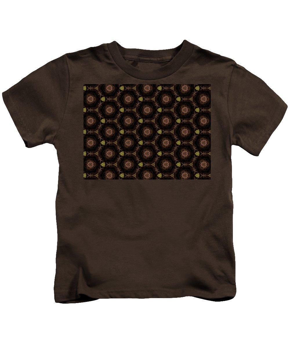 Marjan Mencin Kids T-Shirt featuring the digital art Arabesque 026 by Marjan Mencin