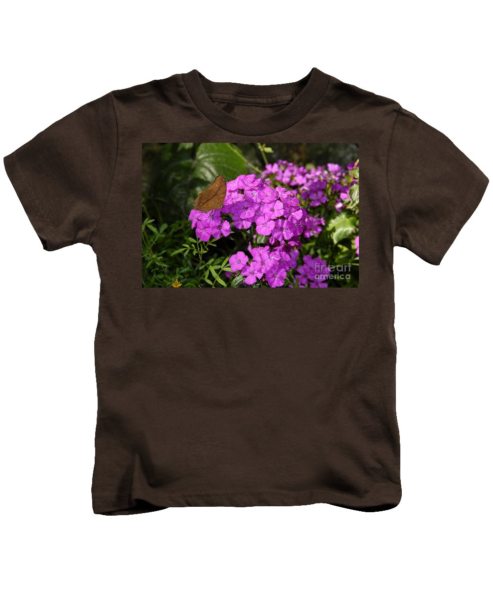 Butterfly Kids T-Shirt featuring the photograph A Beautiful Landing by David Lee Thompson