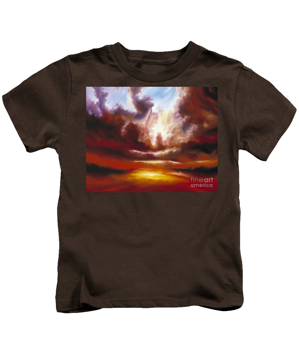 Tempest Kids T-Shirt featuring the painting A Cosmic Storm - Genesis V by James Christopher Hill