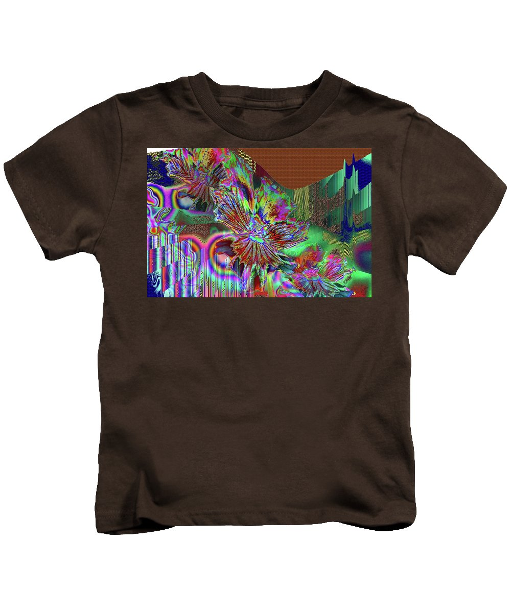 Abstract Kids T-Shirt featuring the photograph A Foiled Pansy by Jeff Swan