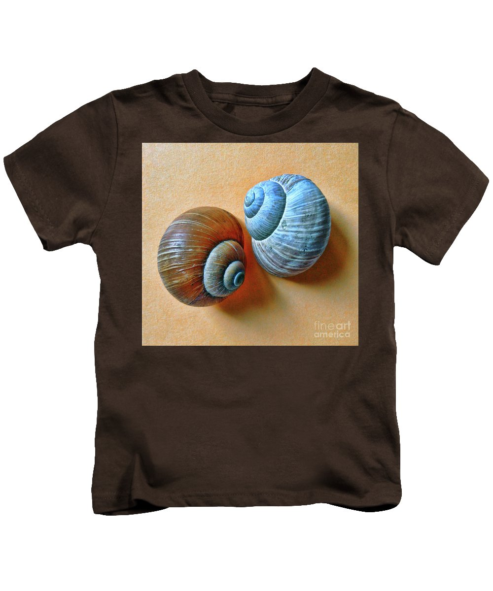 Portrait Of The Cochlea Kids T-Shirt featuring the photograph A Lonely Portraits by Jasna Dragun