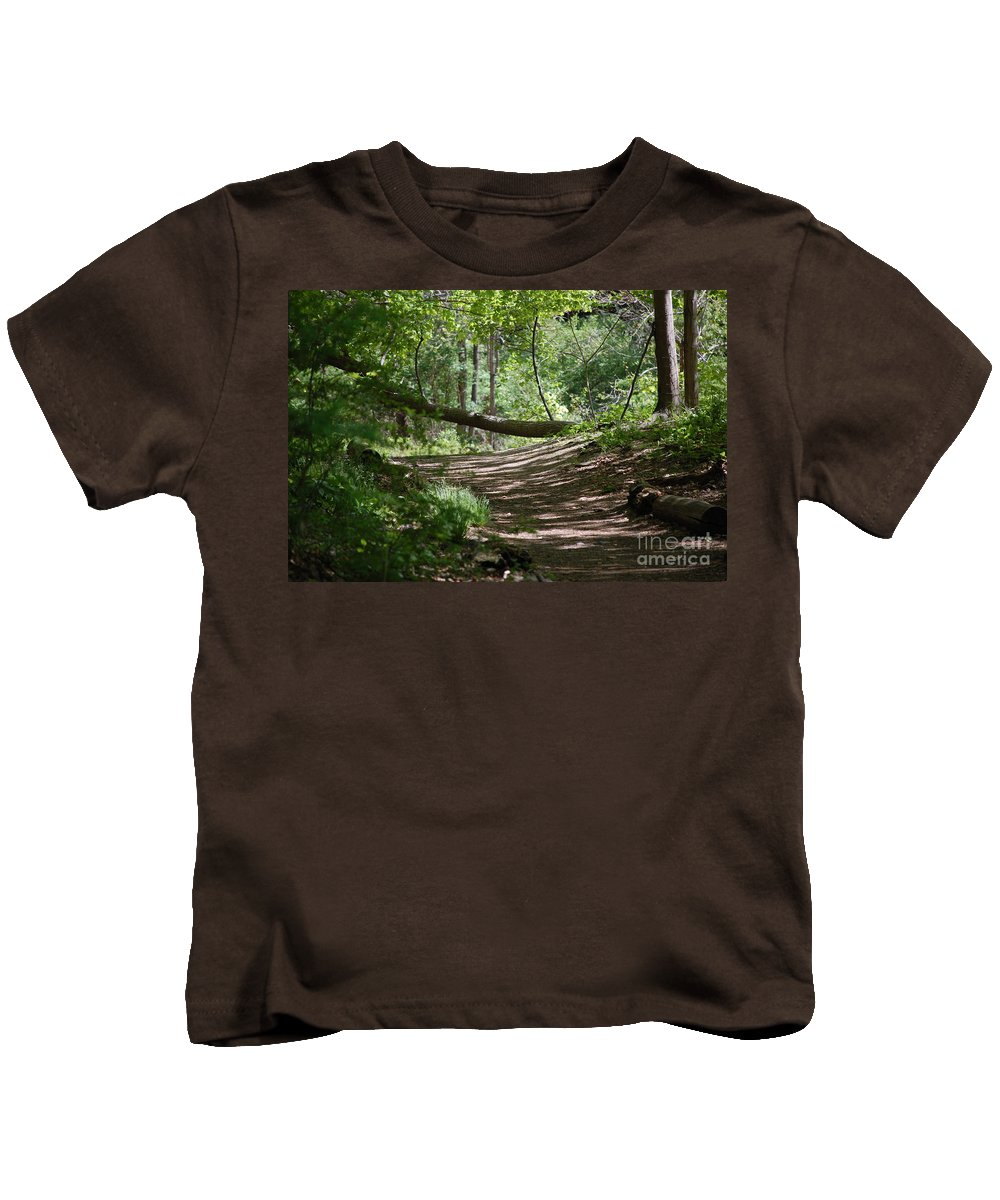 Landscape Kids T-Shirt featuring the photograph A Path In The Woods by David Lane