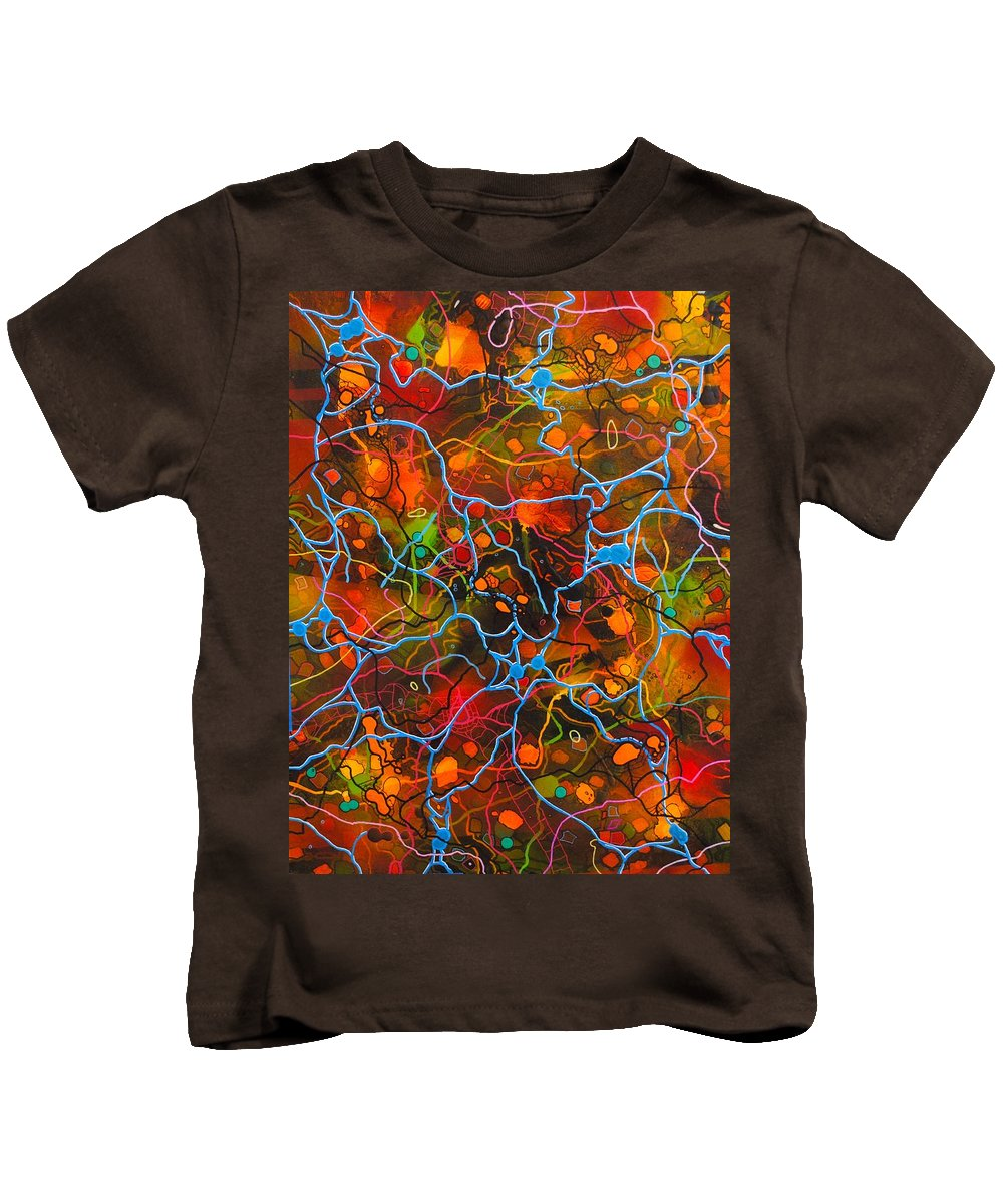 Abstract Kids T-Shirt featuring the painting A Rambling Story by Paul Larson