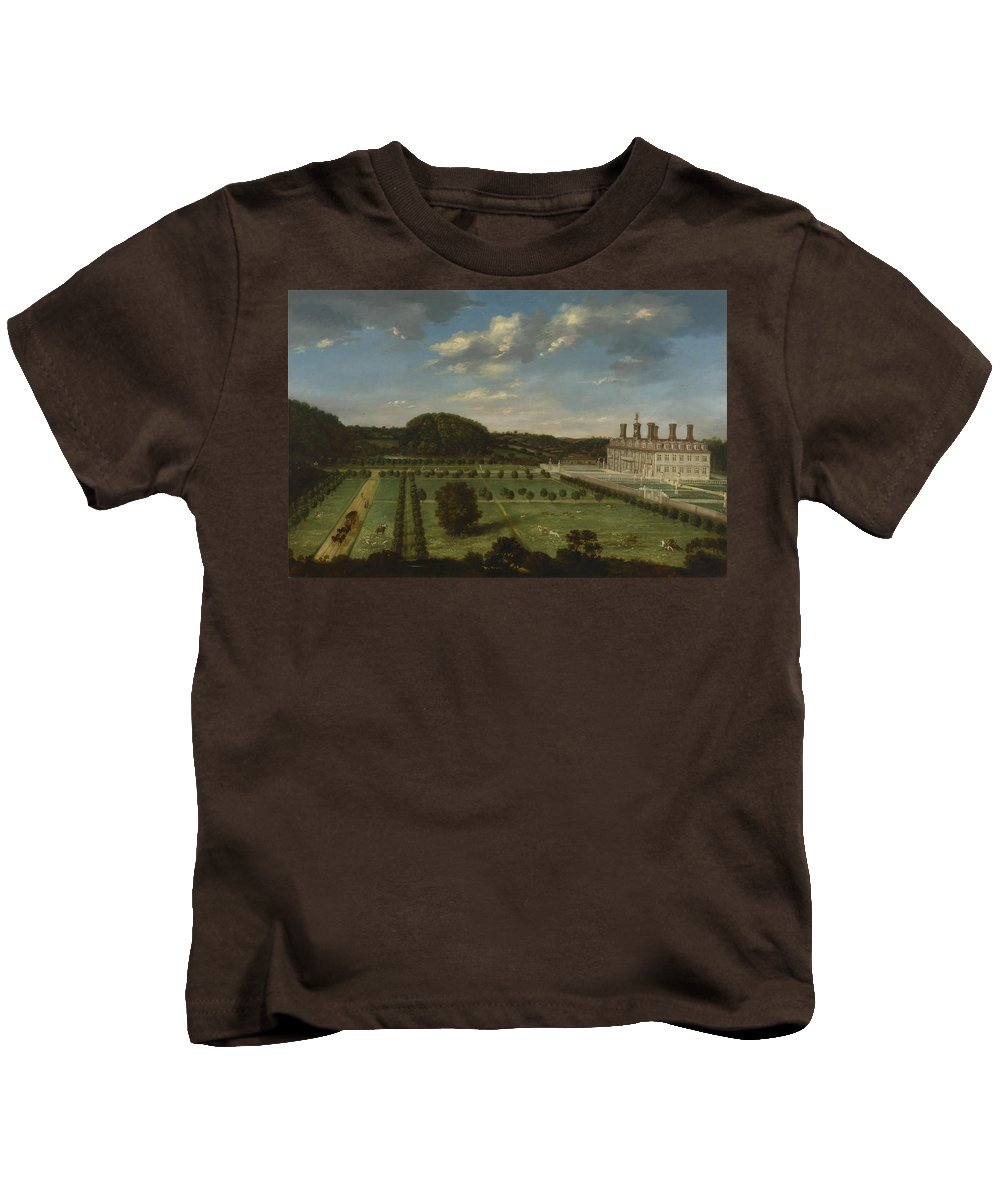 Jan Siberechts - A View Of Bayhall Kids T-Shirt featuring the painting A View Of Bayhall by MotionAge Designs