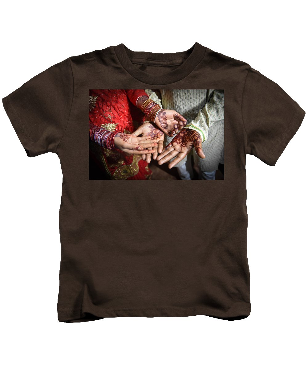 Kids T-Shirt featuring the photograph A Village Wedding by Andrew Day Photography