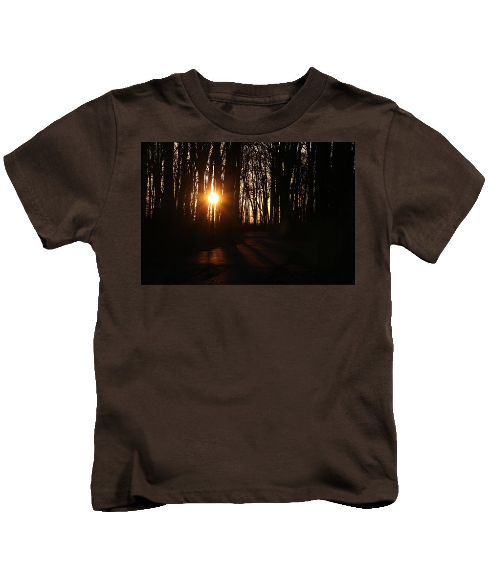 Digital Kids T-Shirt featuring the photograph A Walk At Sunset by Jeff Roney