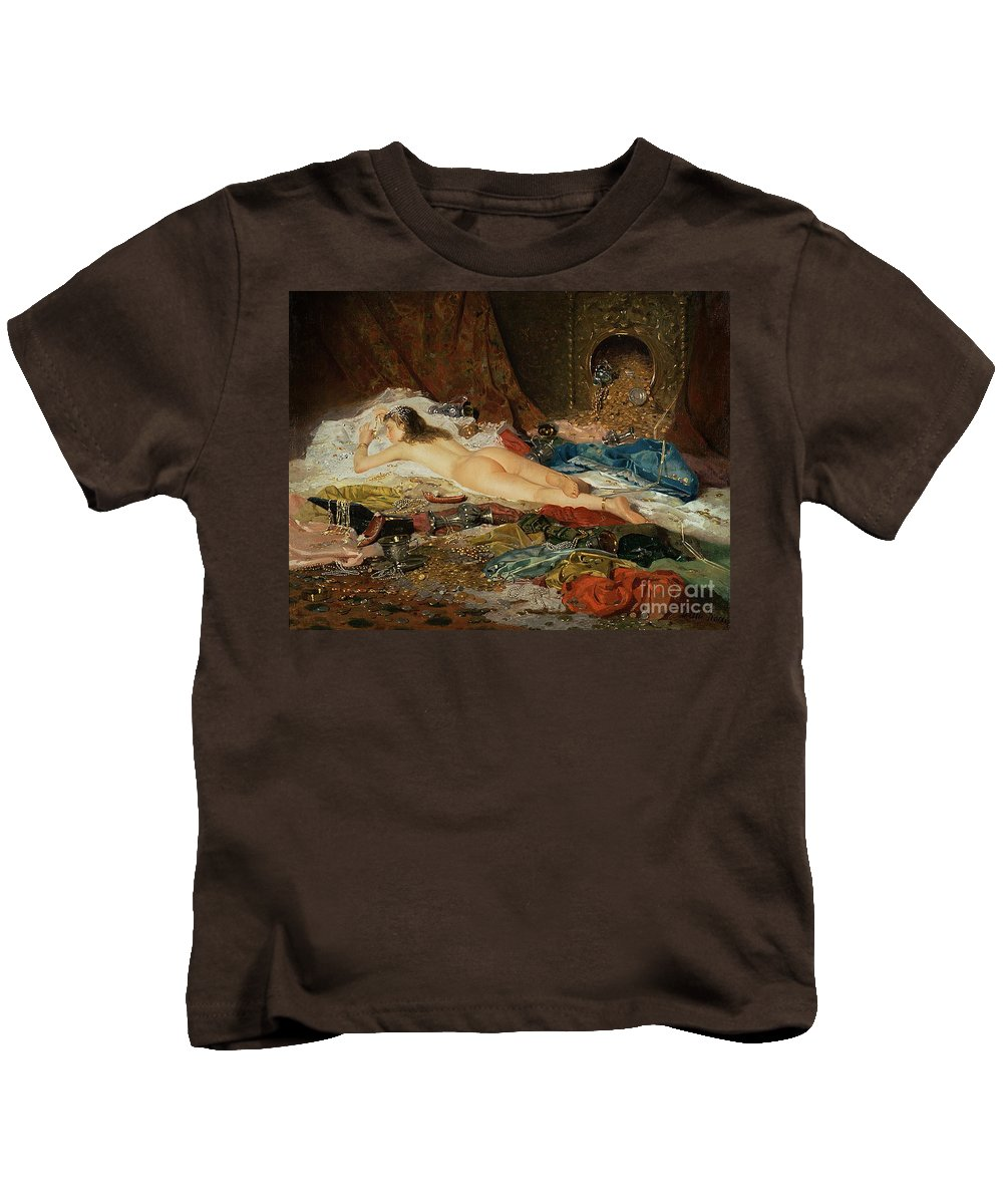 Wealth Kids T-Shirt featuring the painting A Wealth Of Treasure by Della Rocca