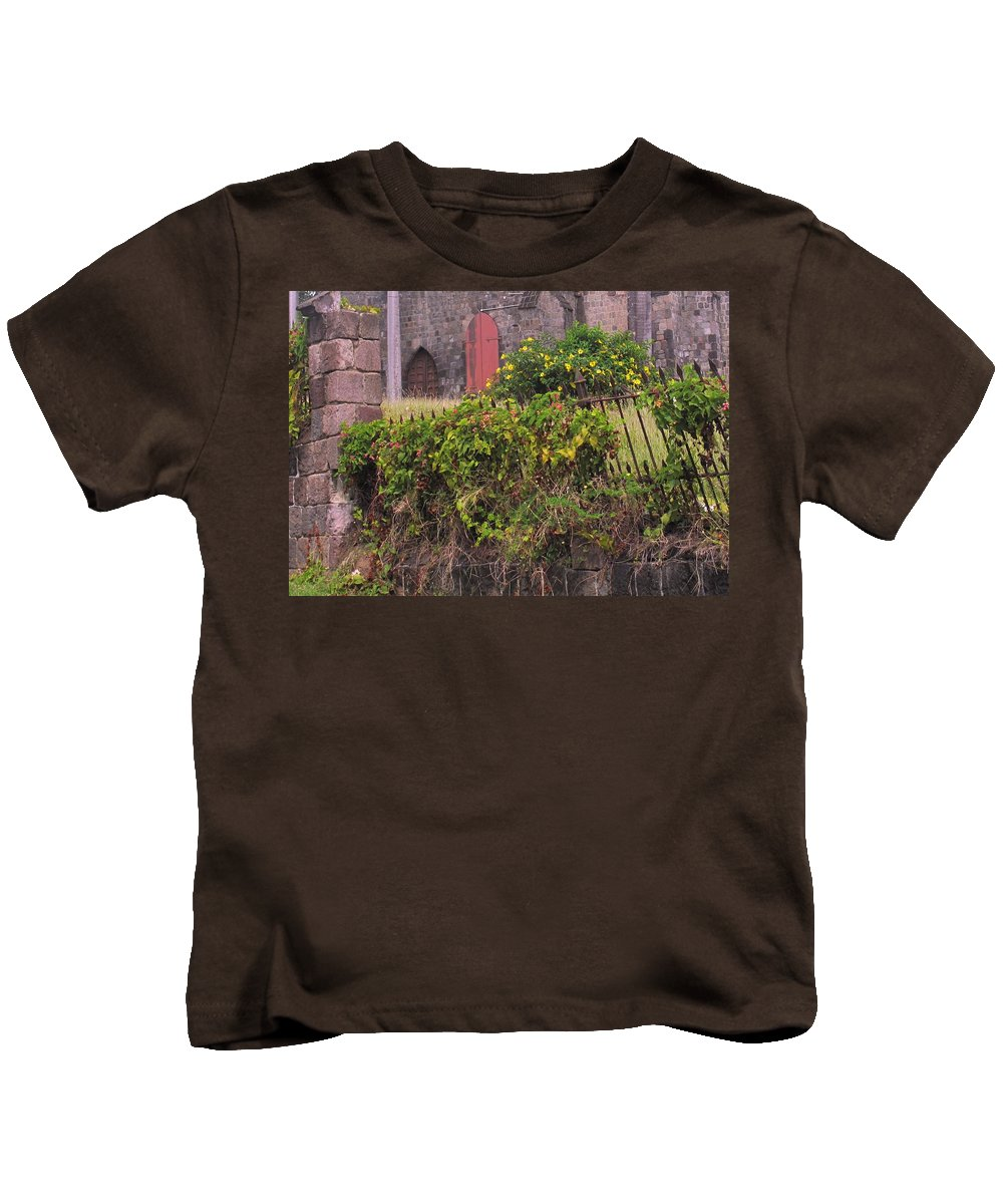 Anglican Kids T-Shirt featuring the photograph Abandoned Churchyard by Ian MacDonald