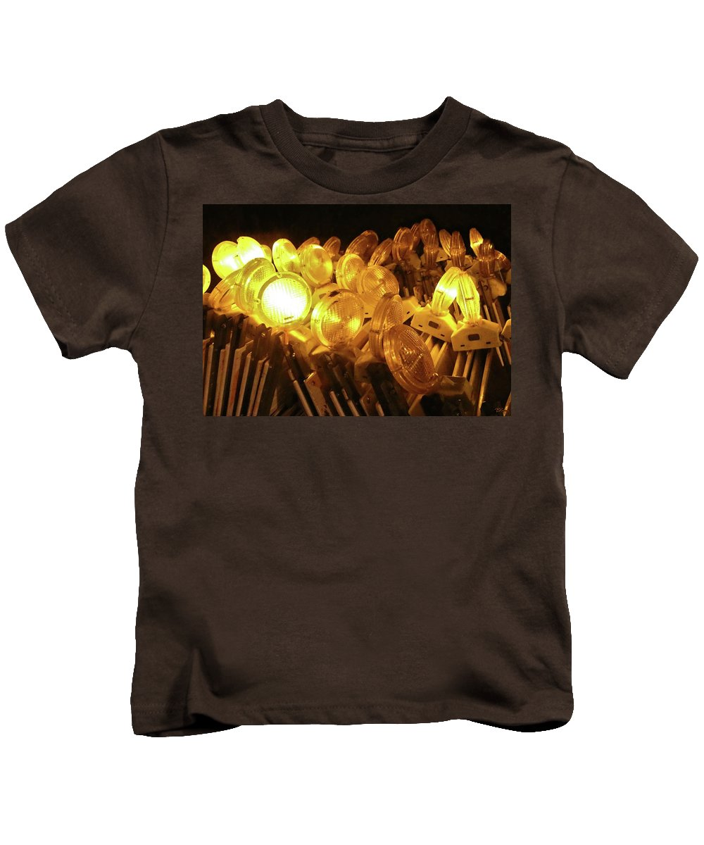 Abandon Kids T-Shirt featuring the photograph Abandoned Lights by Brian Kenney