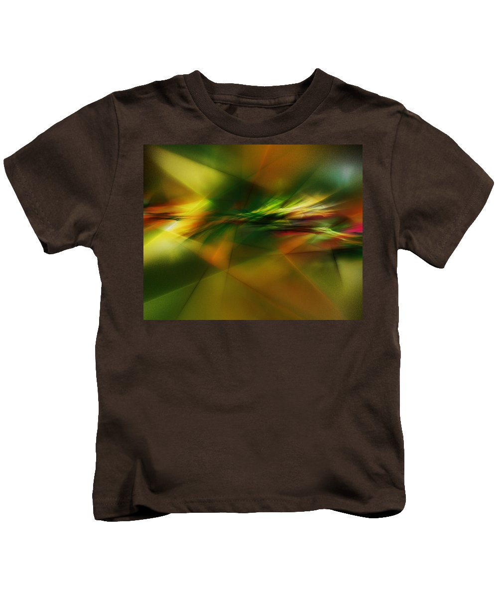Digital Painting Kids T-Shirt featuring the digital art Abstract 060210 by David Lane