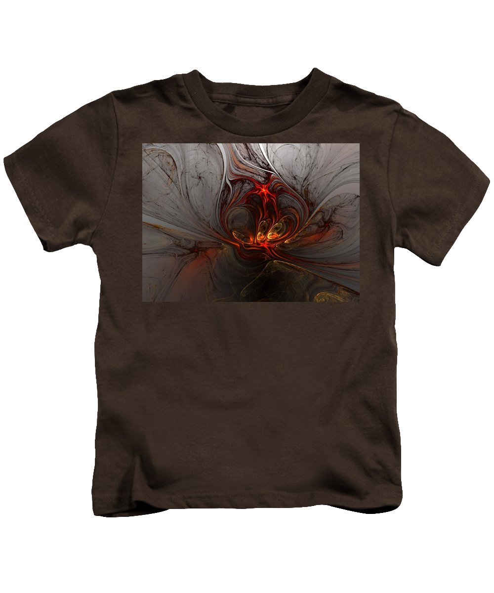 Digital Painting Kids T-Shirt featuring the digital art Abstract 060310 by David Lane
