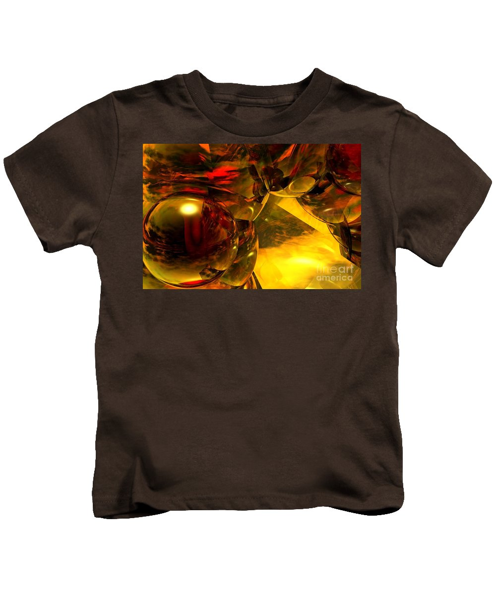 Abstract Kids T-Shirt featuring the digital art Abstract 5-21-09 by David Lane