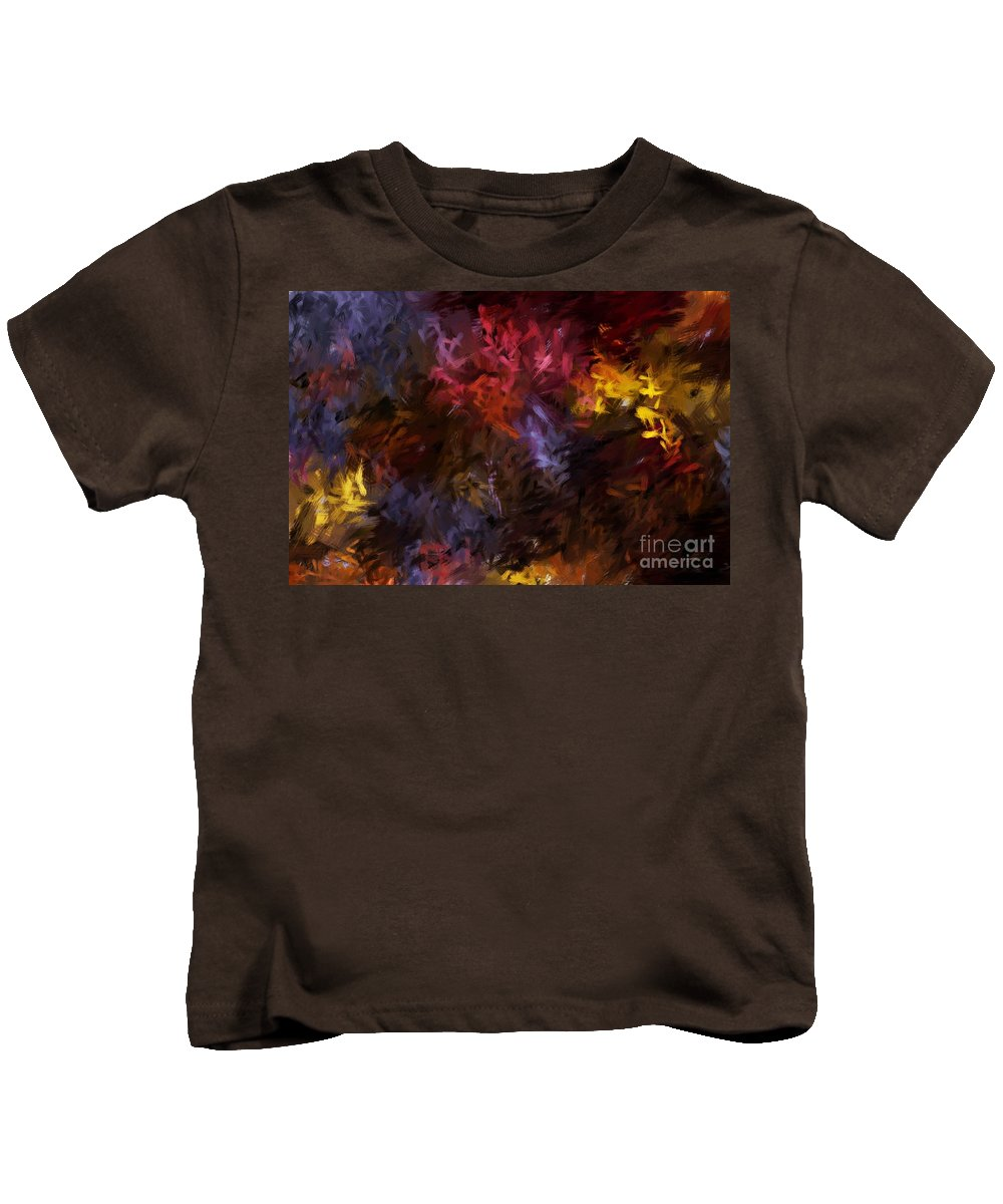 Abstract Kids T-Shirt featuring the digital art Abstract 5-23-09 by David Lane