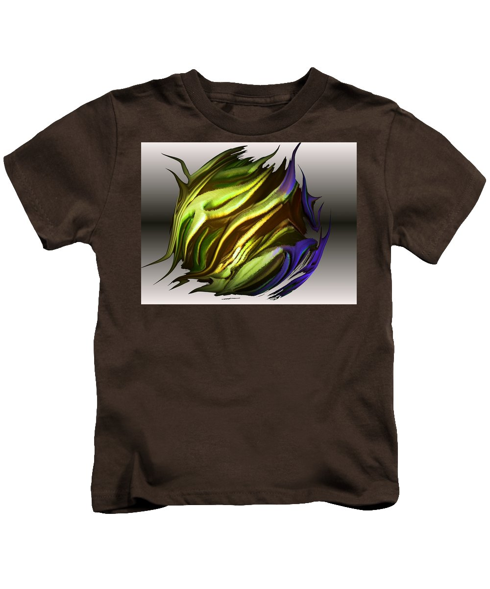 Abstract Kids T-Shirt featuring the digital art Abstract 7-26-09-a by David Lane