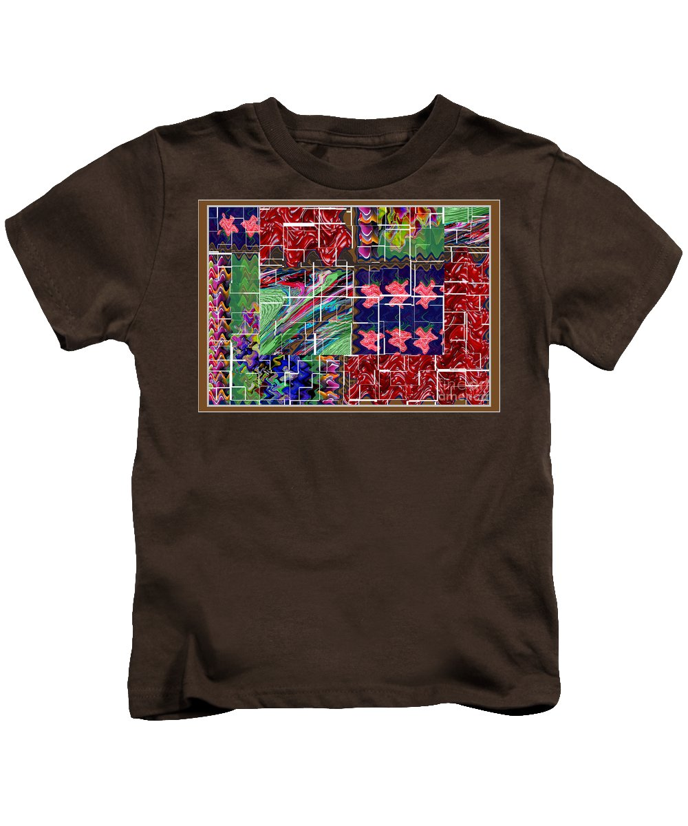 Graphic Kids T-Shirt featuring the digital art Abstract Graphic Art By Navinjoshi At Fineartamerica.com Elegant Interior Decoractions Print On Thro by Navin Joshi