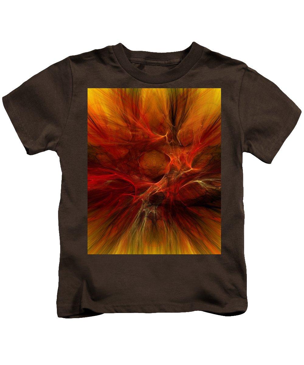 Digital Painting Kids T-Shirt featuring the digital art Abstract0610b by David Lane