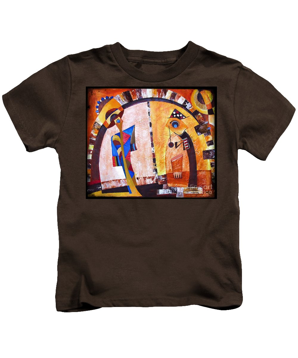Abstraction Kids T-Shirt featuring the digital art Abstraction 3217 by Marek Lutek
