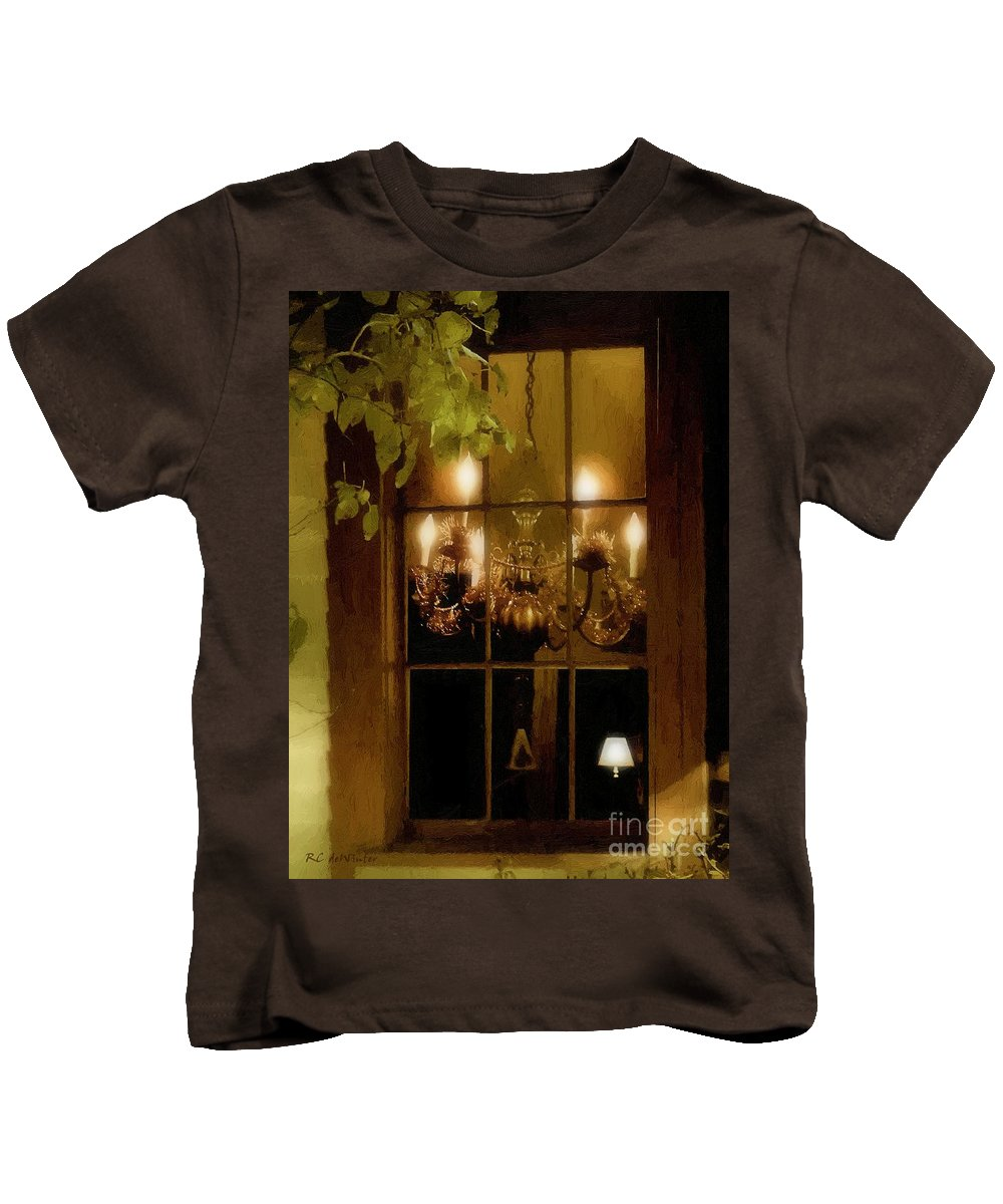 Window Kids T-Shirt featuring the painting After The Feast by RC DeWinter