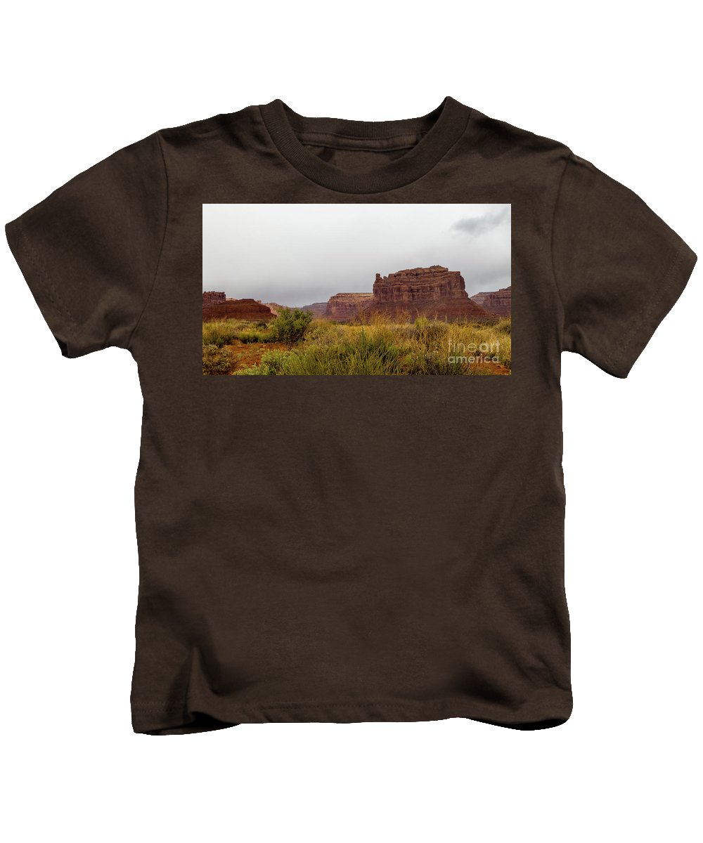 Valley Of The Gods Kids T-Shirt featuring the photograph After The Rains by Jerry Sellers
