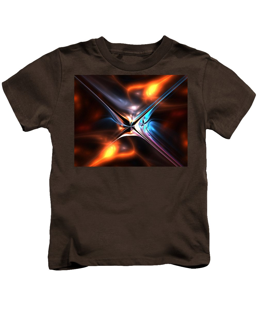 Abstract Kids T-Shirt featuring the digital art Afterglow by Norma Jean Lipert