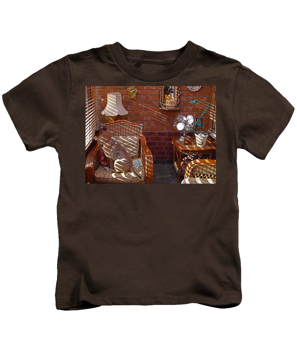 Shadows Kids T-Shirt featuring the photograph Afternoon Sun by Charles Stuart