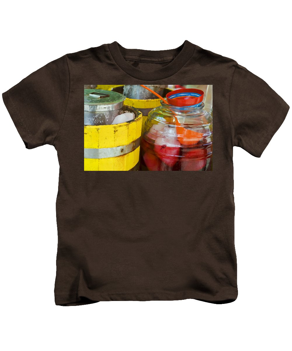 Beverage Kids T-Shirt featuring the photograph Agua De Hamaica by Skip Hunt