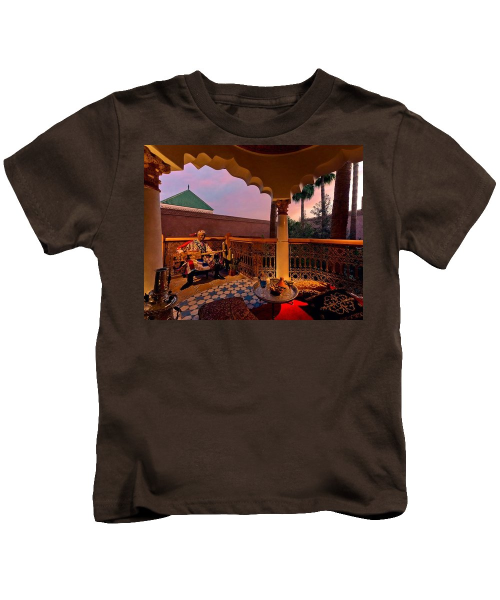 Morocco Tour Operator Kids T-Shirt featuring the photograph Alexander Tour Morocco 12 by Amghala Makhali