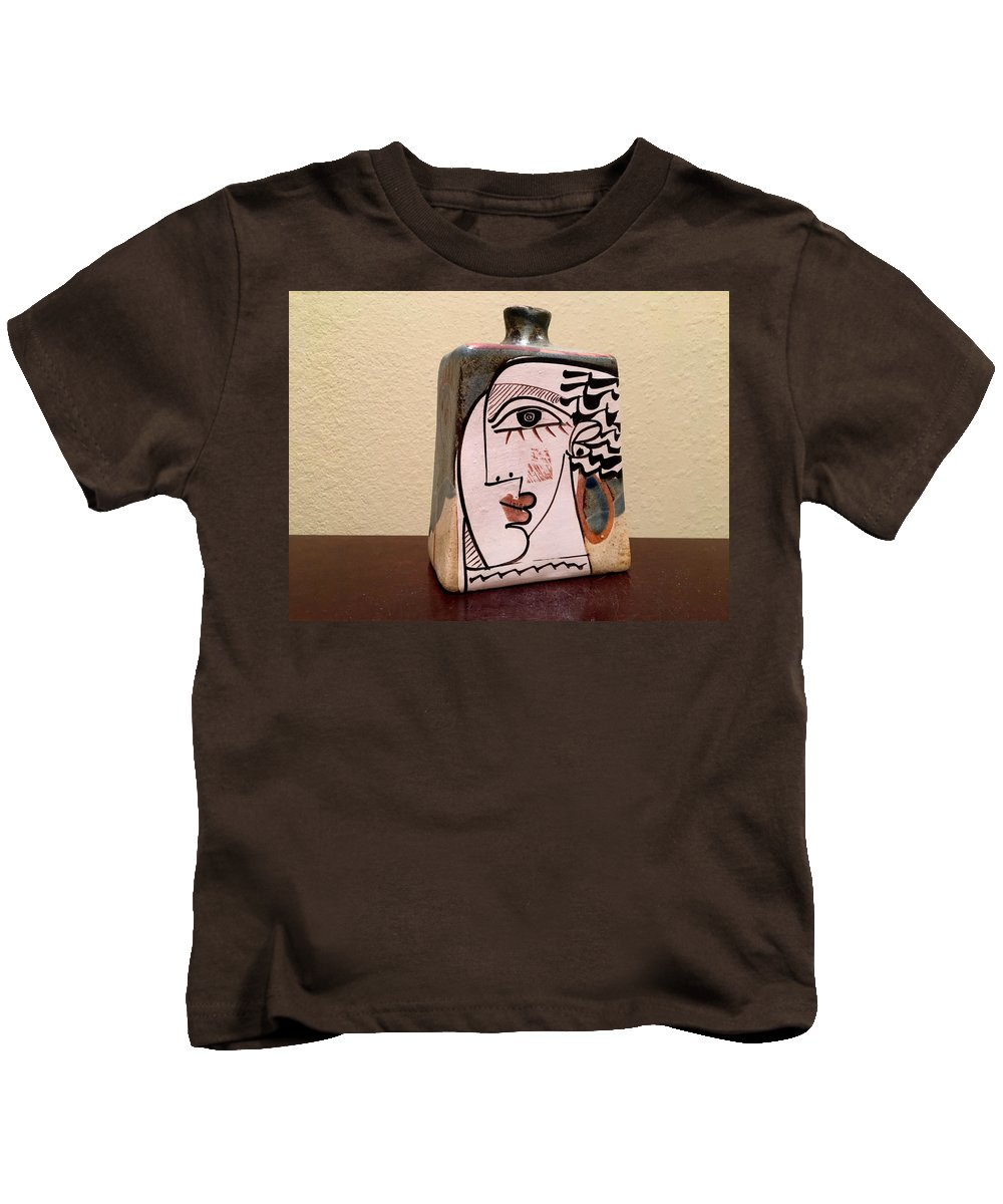 Abstract Kids T-Shirt featuring the photograph Alfajar Vase by Yuri Tomashevi