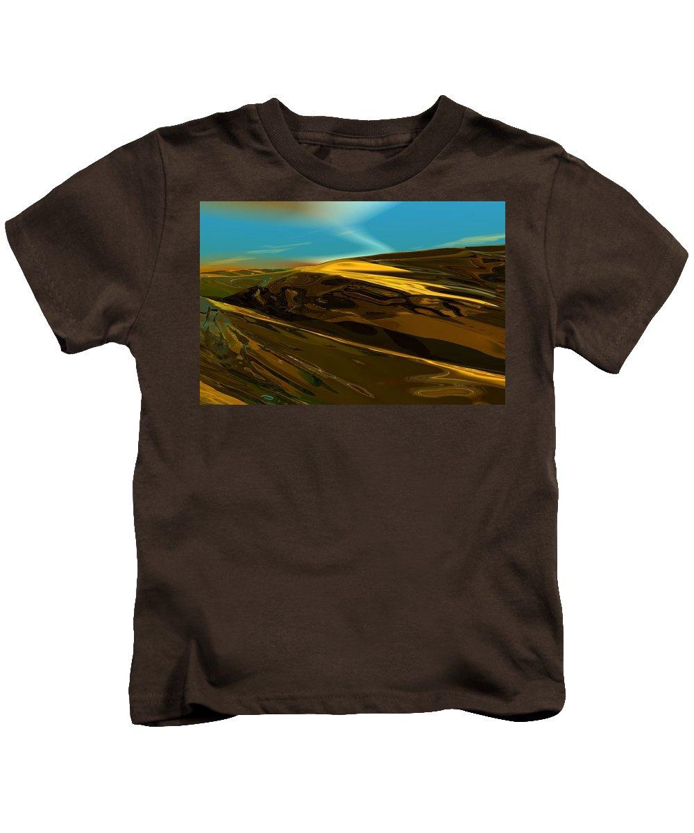 Landscape Kids T-Shirt featuring the digital art Alien Landscape 2-28-09 by David Lane