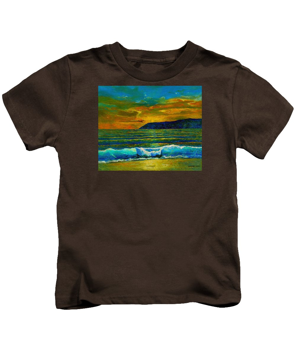 Seascape Kids T-Shirt featuring the painting Along The African Coast by Michael Durst