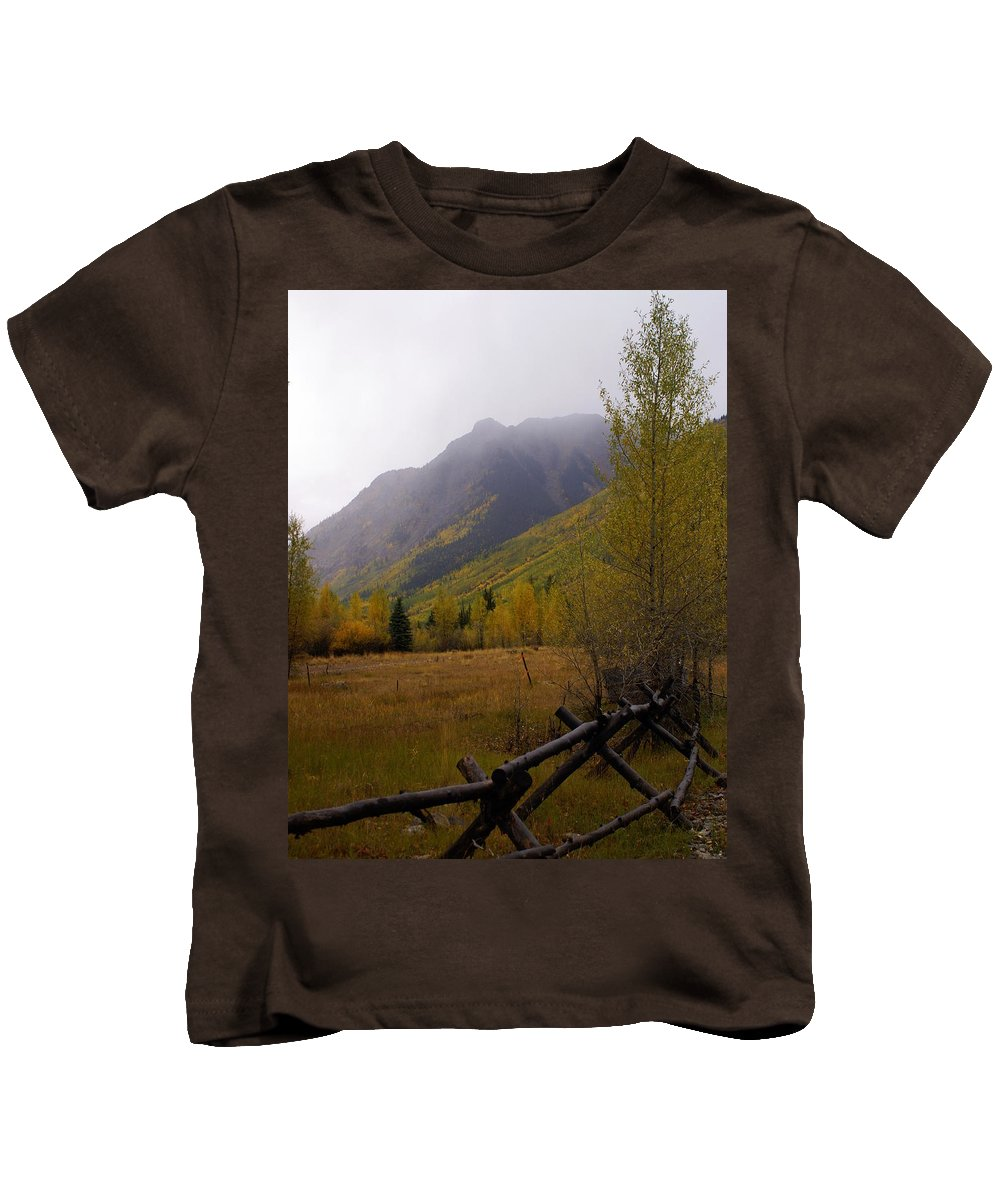 Colorado Kids T-Shirt featuring the photograph Along The Alpine Loop by Marty Koch