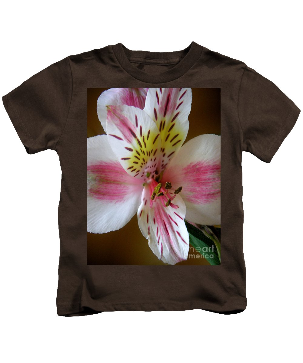 Nature Kids T-Shirt featuring the photograph Alstroemerias - Close by Lucyna A M Green