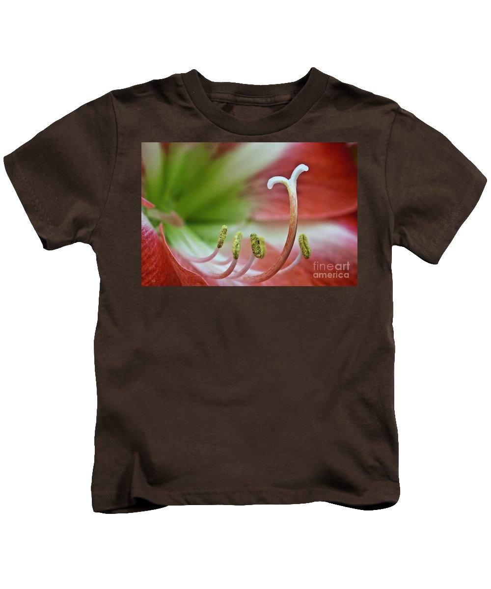 Amaryllis Kids T-Shirt featuring the photograph Amaryllis Flower by Heiko Koehrer-Wagner