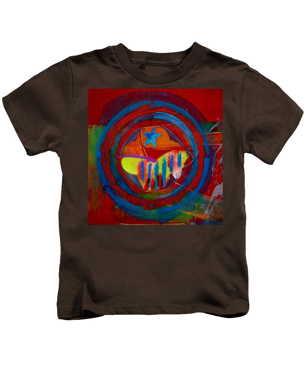 Button Kids T-Shirt featuring the painting American Pastoral by Charles Stuart