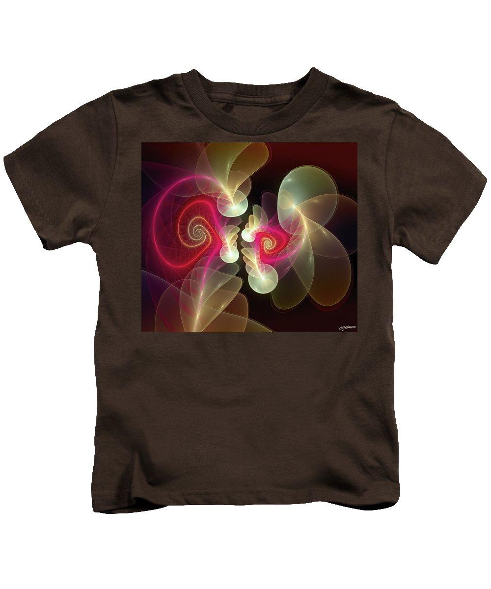 Abstract Kids T-Shirt featuring the digital art Amusement by Casey Kotas