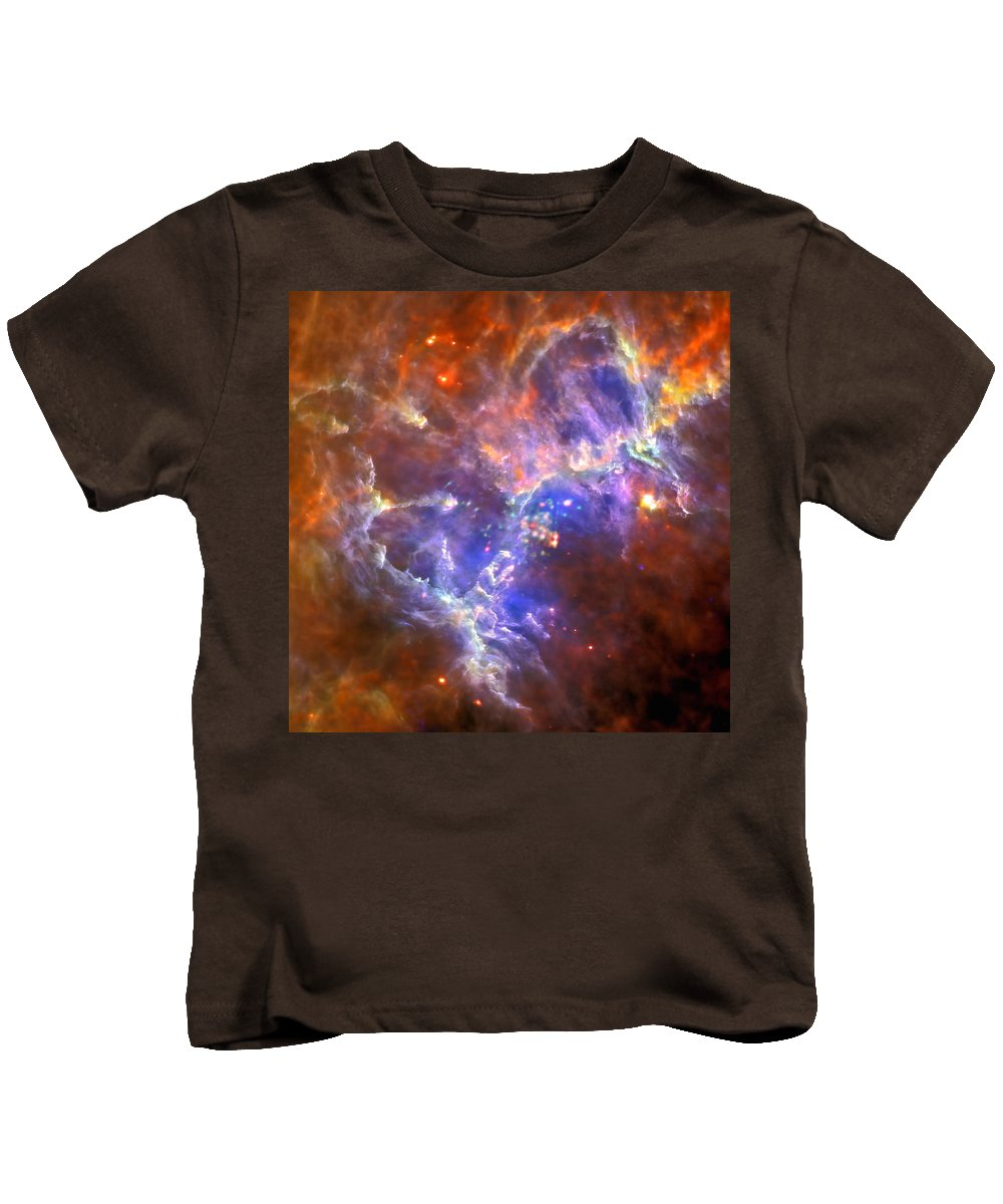 Nasa Kids T-Shirt featuring the photograph An Eagle's Nest Of Stars by Nasa