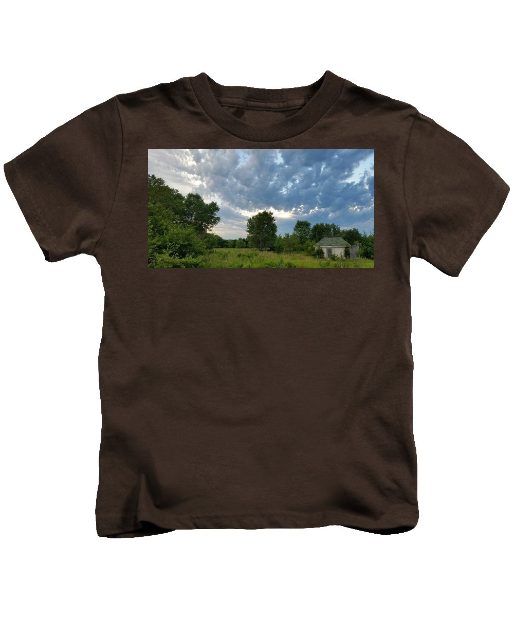 Landscape Kids T-Shirt featuring the photograph Any Shelter In A Storm by Caryl J Bohn