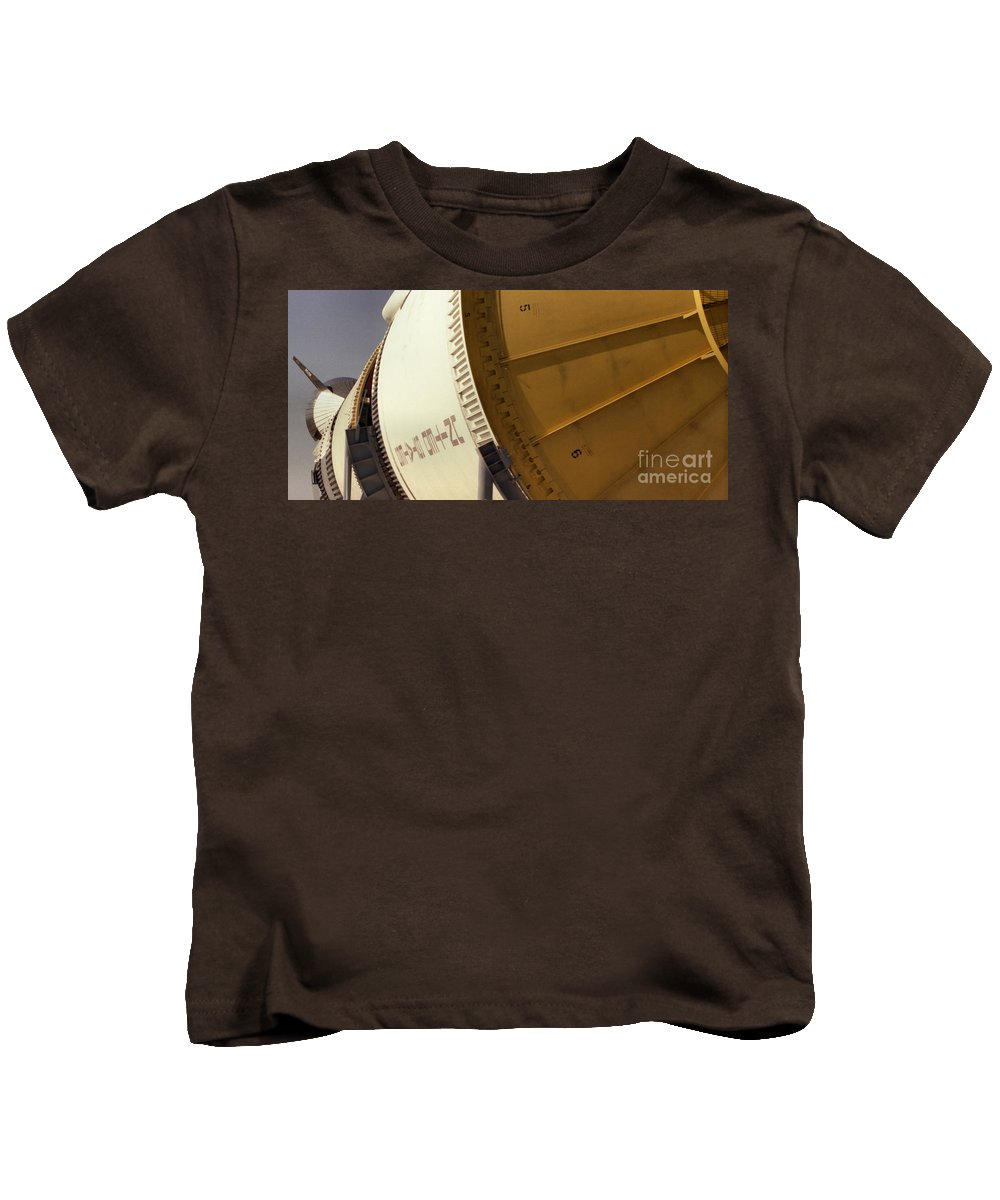 Technology Kids T-Shirt featuring the photograph Apollo Rocket by Richard Rizzo