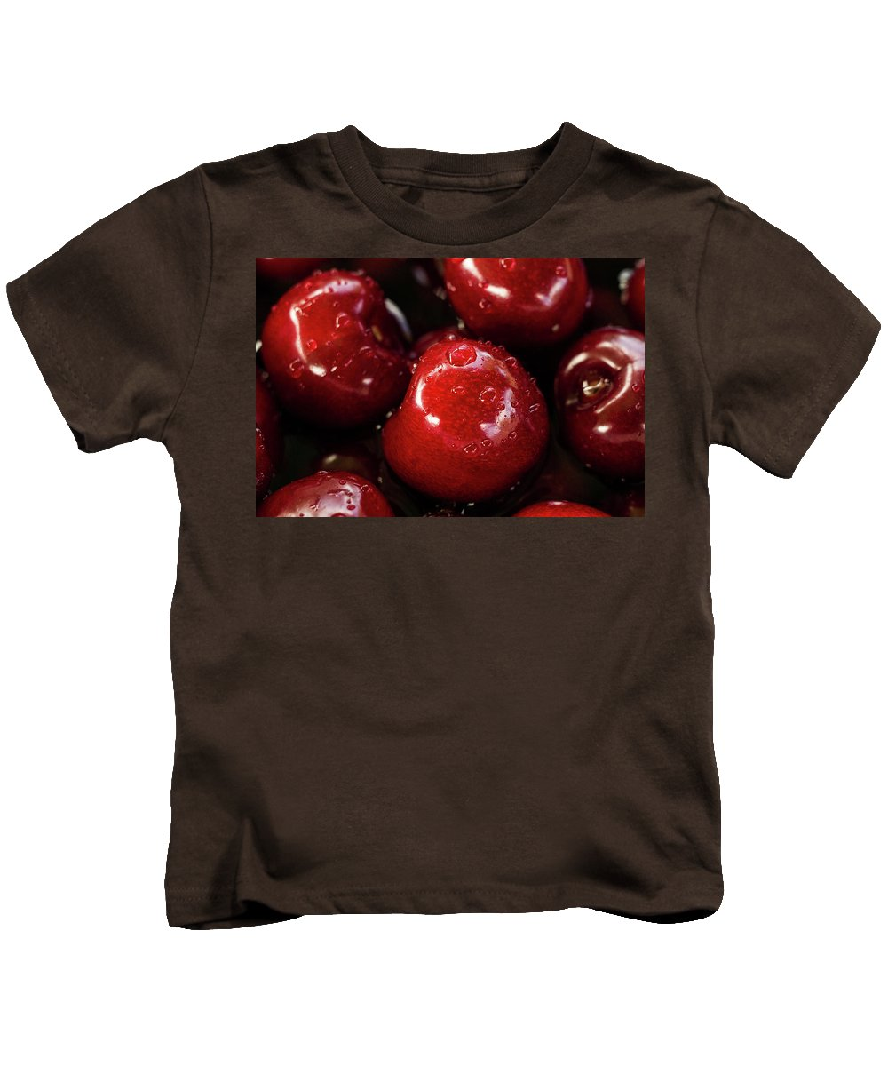 Red Kids T-Shirt featuring the photograph Apple Perfection by Happy Home Artistry