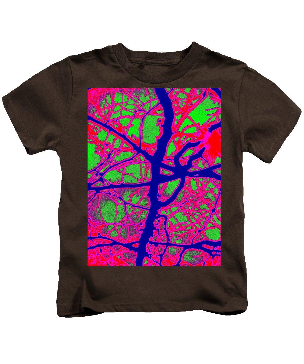 Abstract Kids T-Shirt featuring the digital art Arbor Mist 2 by Tim Allen