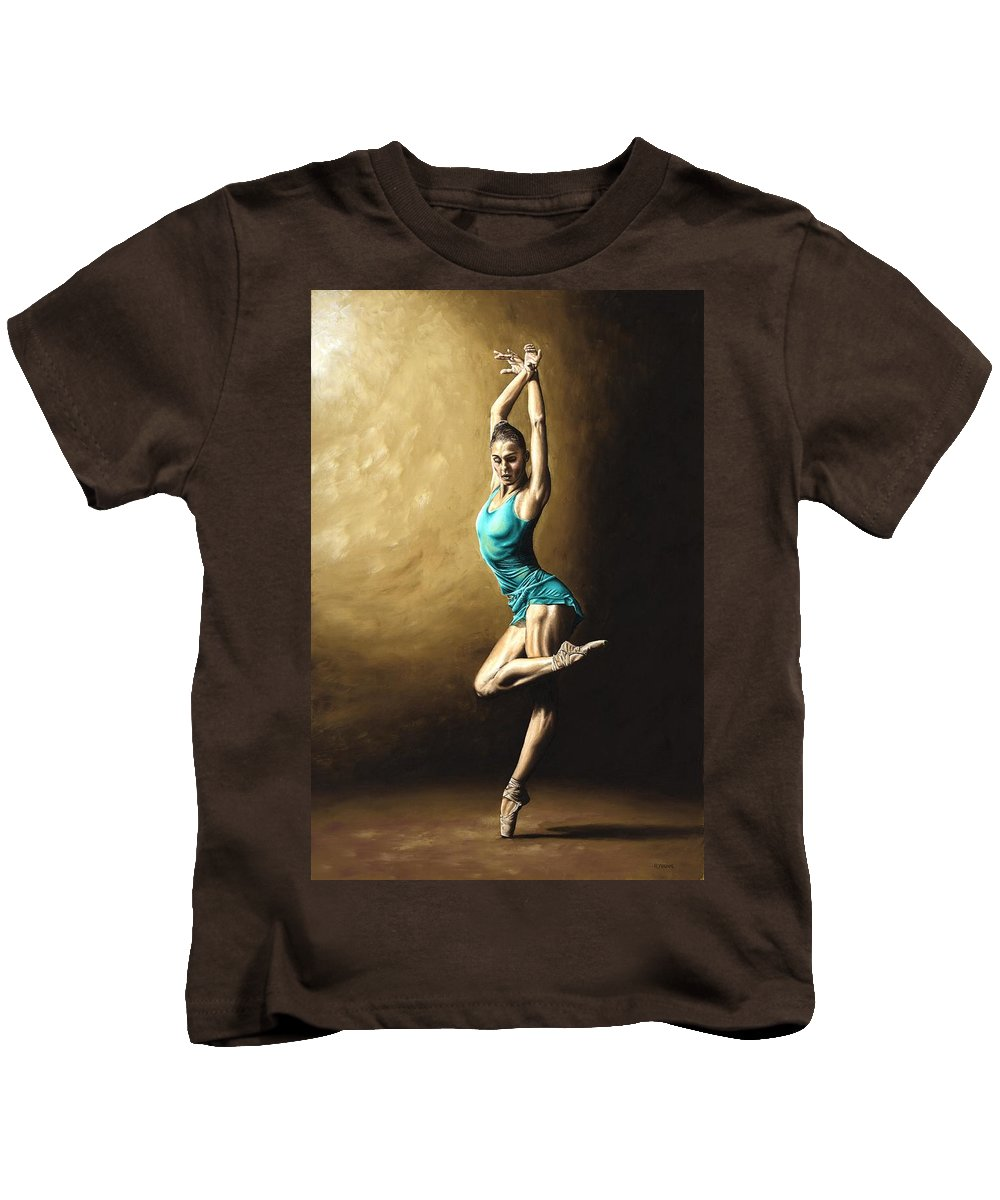 Dance Kids T-Shirt featuring the painting Ardent Dancer by Richard Young