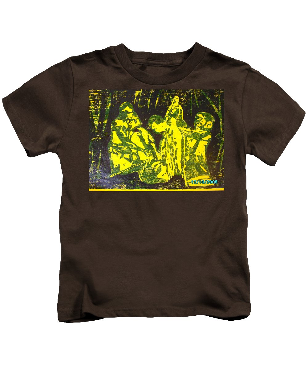 Festival Kids T-Shirt featuring the mixed media Argungun Festival 2 by Olaoluwa Smith
