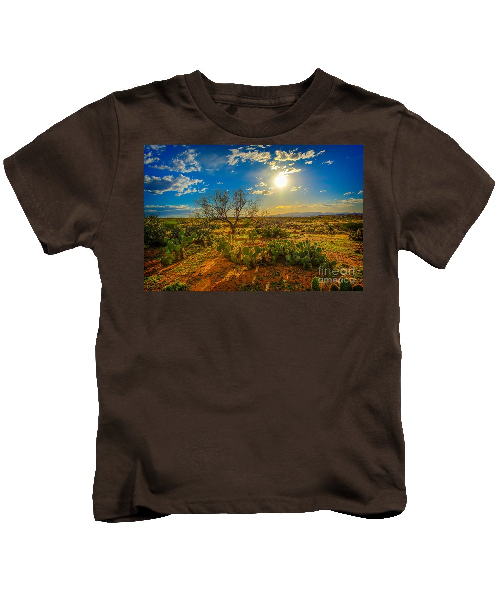 Sunset Kids T-Shirt featuring the photograph Arizona Sunset 28 by Larry White