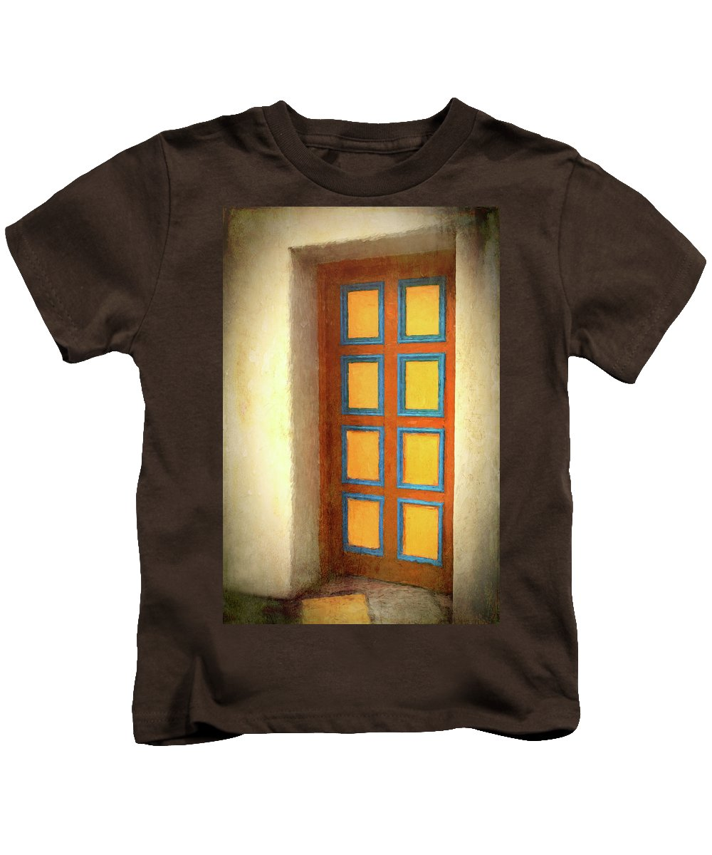 Door Kids T-Shirt featuring the photograph Arts Center Door by Mitch Spence