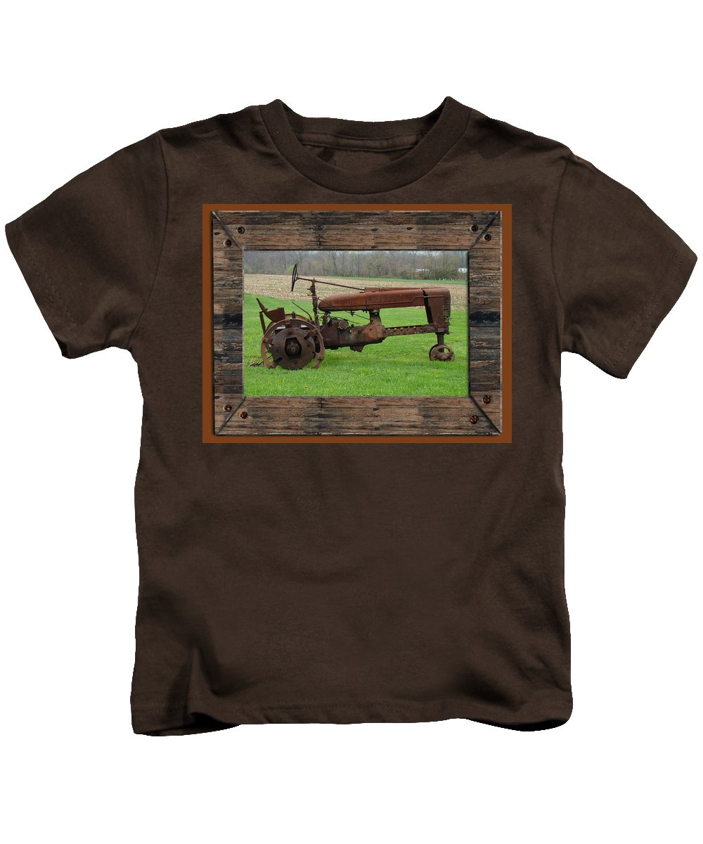 Tractor Kids T-Shirt featuring the photograph Ashes To Ashes - Rust To Rust by Mother Nature