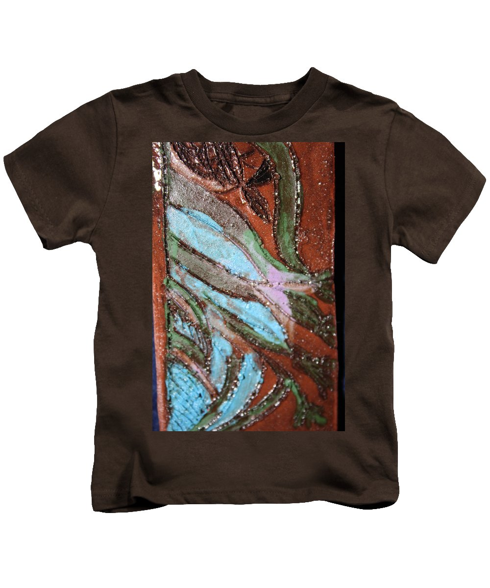 Gloria Ssali Kids T-Shirt featuring the painting Asleep Tile by Gloria Ssali