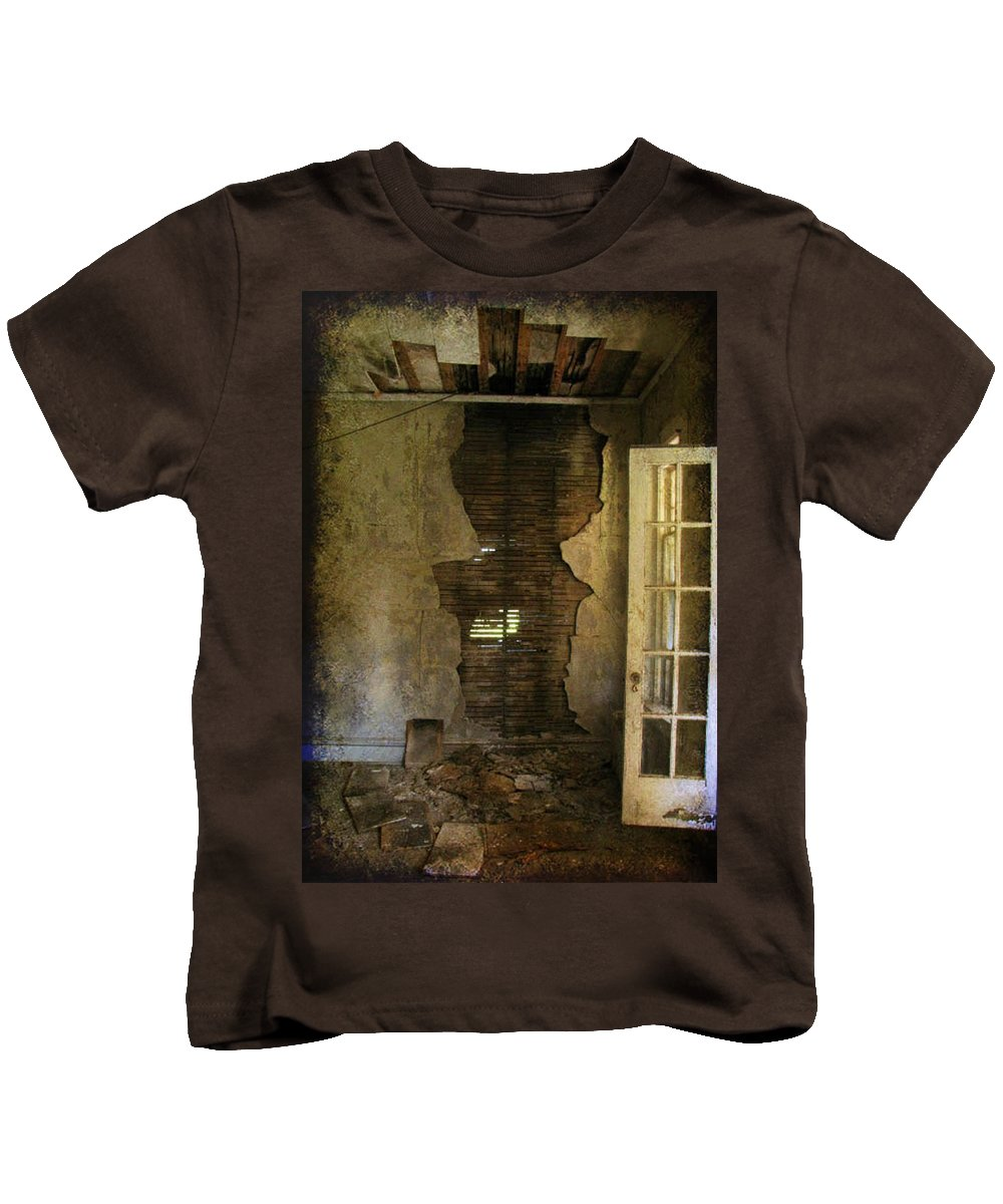 Abandoned Kids T-Shirt featuring the photograph At The Seams by Jessica Brawley